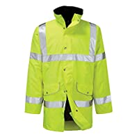 Orbit Rapier Waterproof Breathable Hi Vis Yellow Reflective Coat/Jacket