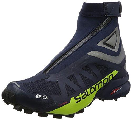 Salomon Snowcross 2 CSWP, Stivali da Escursionismo Uomo Blu (Navy Blazer/Argento lucido/Lime)