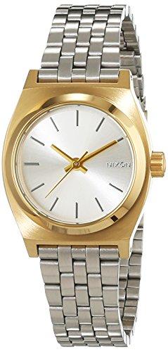 Nixon Damen-Armbanduhr Small Time Teller Gold/Silver Analog Quarz Edelstahl A3992062-00