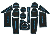 #10: Nandhi Non-Slip Interior Door Mats for Ford Ecosport Set of 16pcs - Blue