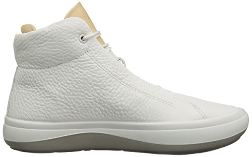 Ecco Damen Kinhin Hohe Sneaker Weiß (White/Veg Tan)