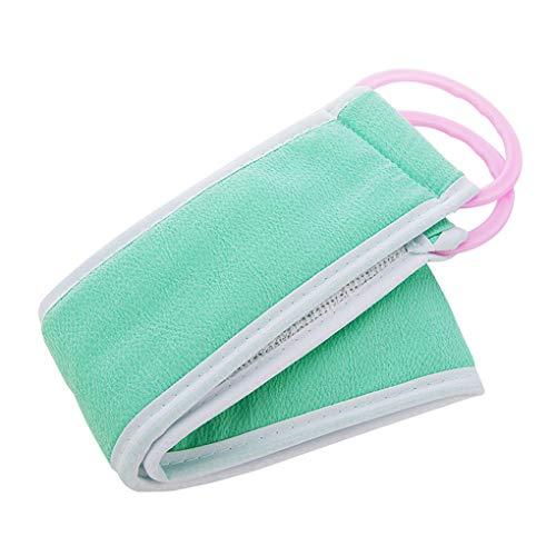 Busirde Bad-Band Handtuch Scrubber Badetuch Bürste Rub Badewanne Massage Peeling Handtuch Körper Waschlappen Rückenbürste Gürtel zufällige Farbe