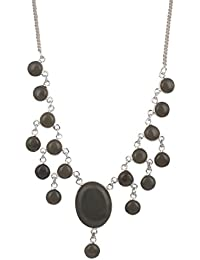 Sansar India Elegant Stylish Jaipur Stone Pendant Tassels Choker Traditional Necklace For Girls And Women