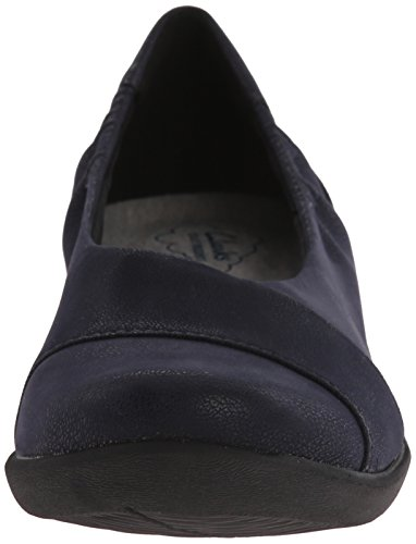 Clarks Cloudsteppers Sillian Intro Flat Navy Synthetic Nubuck
