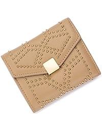 625f39243909 Femmes en Cuir Rivet MagnéTique HASP Style Porte-Monnaie Portefeuilles  d affaires Courtes