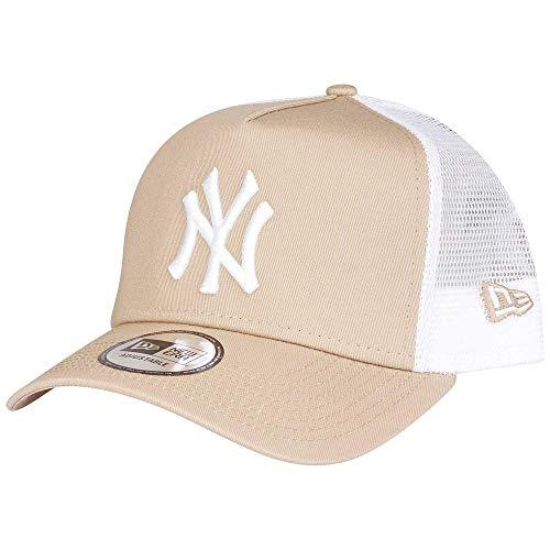 1e2aa641609920 New Era New York Yankees Essential MLB Trucker Snap Back Baseball Cap Beige