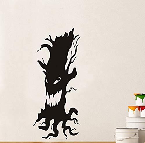 Scary Tree Entfernbare Wandaufkleber für Kinderzimmer Halloween Wandbild Wallpaper 43X103Cm