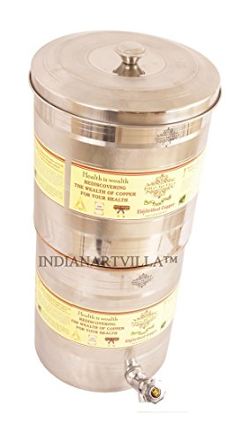 71 off on indianartvilla double filter steel copper water for Copper water tank