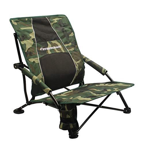 STRONGBACK Low Gravity Strand Stuhl mit Lendenwirbelstütze, Herren, Camouflage