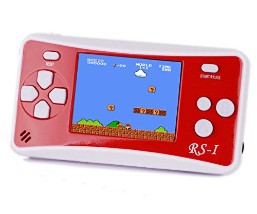 Handheld Game Console, QINGSHE 2.5'' LCD Classic 8 Bit Retro Portable Video Game with 152 Games Built-in Game Player,Best Birthday Christmas Gifts for Children-RED