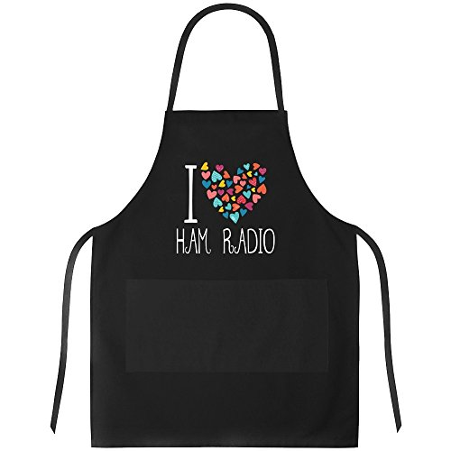 Idakoos I love Ham Radio colorful hearts - Hobbies - Schürze (Ham-radio-bekleidung)