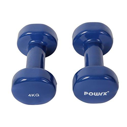 Vinyl Hantel Paar Ideal für Gymnastik Aerobic Pilates 0,5 kg – 10 kg | Kurzhantel Set in versch. Farben (2 x 4 kg) - 2