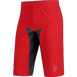 Gore Bike Wear Pantalones Cortos Para Hombre Térmicos Ciclismo Talla M Rojo/Negro