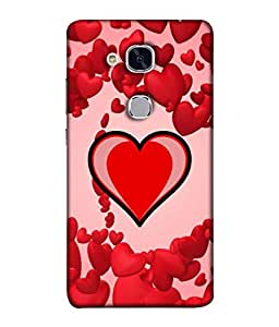 PrintVisa Designer Back Case Cover for Huawei Honor 5c :: Huawei Honor 7 Lite :: Huawei Honor 5c GT3 (Perspective Decoration Abstract Heart Colorful Sphere Beautiful Tunnel)