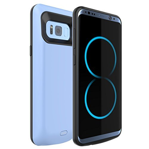 Samsung S8 Plus Battery Case Yuqoka 5500mAh Portable Charger Case Power Bank Ultra Slim Extended Pack Power Cases Battery Backup Rechargeable Shockproof Faster Charge for Samsung Galaxy S8 Plus (2017)