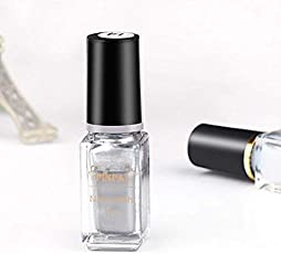 FASHION HUB BRAND Nail Color Nail Polish Silver For Women And Girls 5ml