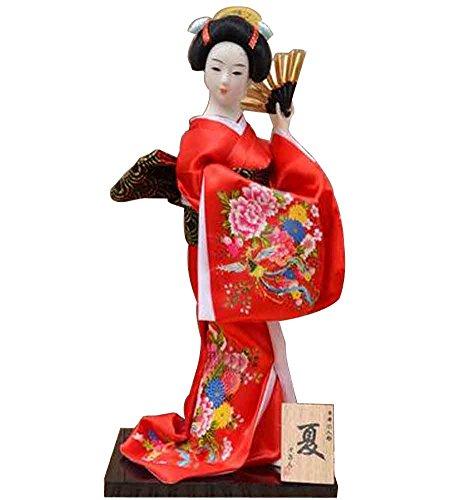 Japanische traditionelle Puppe Geisha Puppe antike japanische Puppen [B]