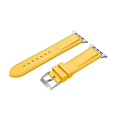 Kompatibel mit für Apple Watch Armband 44 mm Weichen Silikon Sport Replacement Wrist Band Uhrenarmband für Apple Watch Series 4(44mm,6 Farben)