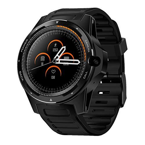 Sixcup®1,39 Zoll Zeblaze Thor 5 Dual Smartwatch 4G GPS WiFi Android Smart Watch mit AMOLED Pedometer Heart Rate Monitor 2 + 16G Speicher 545 mAh Akku BT4.0 Armbanduhr (Black) - Face Uhr Damen Dual