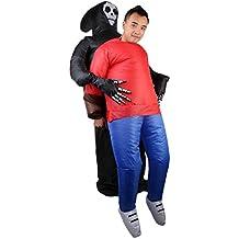 Generic Donna Uomo Gonfiabile Fantasma Cranio Vestito Halloween Partito Cosplay Costumi Operato Tute