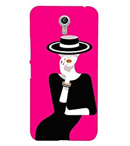 PrintVisa Fashion Mystery Girl Black Dress 3D Hard Polycarbonate Designer Back Case Cover for Lenovo Zuk Z1