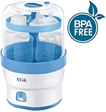 SToK (BPA Free) ST-ES01- For 6 Bottles- 3 in 1 Electric Steam Sterilizer/Steriliser for Baby Feeding bottles & other accessories