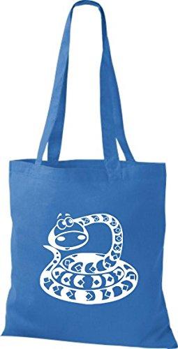 Shirtstown Stoffbeutel Tiere Schlange Snake Royal