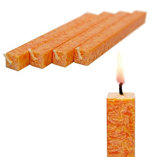 Preisvergleich Produktbild Wachskerze Mango 4-er Set amabiente - Stabkerze Bio-Stearin Kommunionkerze 19 cm