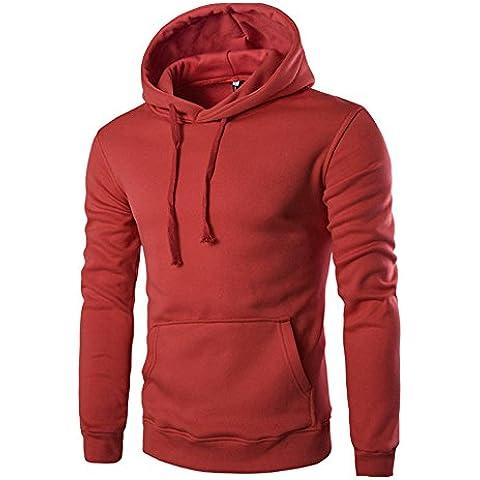 Longra Hombres Otoño Invierno Collar Sudadera, Retro Sweater Top Blusa