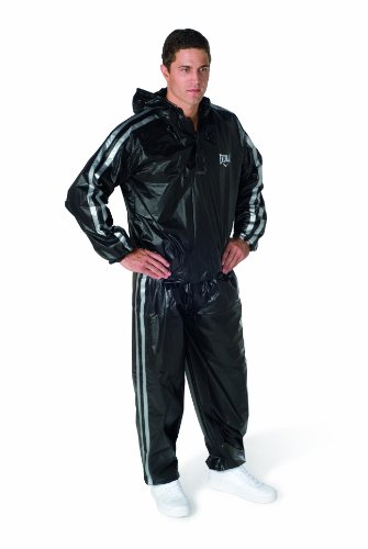 Everlast Erwachsene Boxartikel Ex5013 14 Super Sweat Hooded Sauna Suit, black, XL/XXL