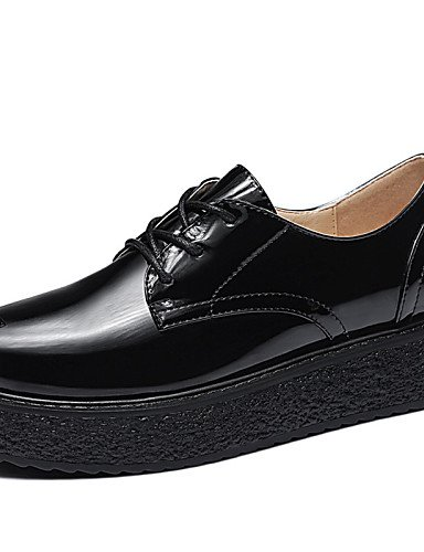 ZQ hug Scarpe Donna - Scarpe col tacco - Ufficio e lavoro / Casual / Serata e festa / Formale - Comoda / Creepers - Plateau - Vernice -Nero / , red-us8 / eu39 / uk6 / cn39 , red-us8 / eu39 / uk6 / cn3 black-us8 / eu39 / uk6 / cn39