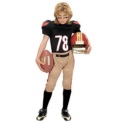 Halloween Spieler Kostüm Fußball - Widmann 58688 Kinderkostüm Football Spieler, 158