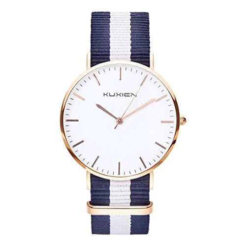 Damen Uhren, Damen Armbanduhren KUXIEN Ultra Dünne Unisex -