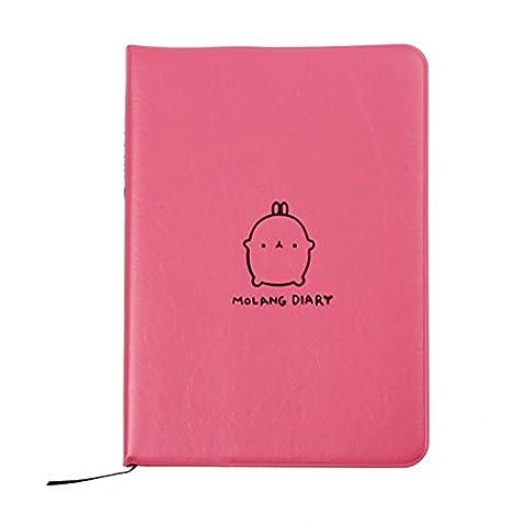 Molang Diary Weekly Planner Agenda Notebook ,Kawaii Rabbit,Rose