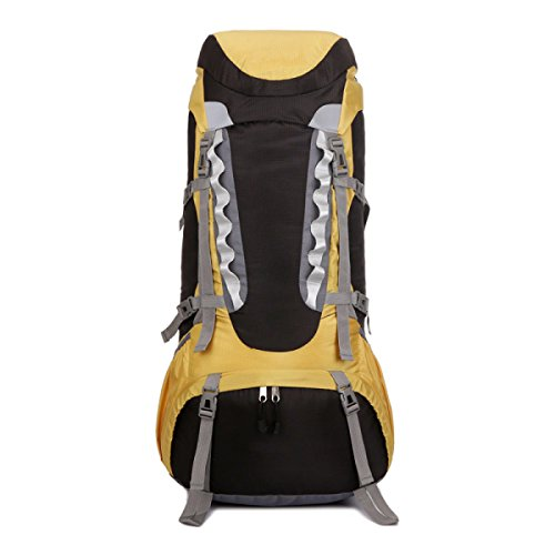 Groß Kapazität Im Freien Rucksack Bergsteigen Tasche Für Trekking Yellow