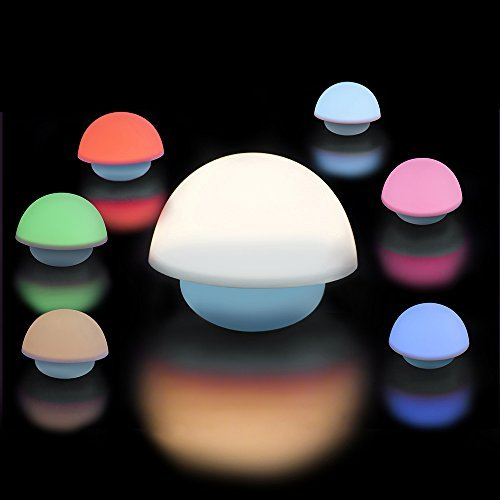 Caracteristicas La luz de la noche en forma de seta es tan lindo que es un regalo ideal para los niños y todo el mundo seguramente disfrutará jugando con él. La cubierta suave de la lámpara del silicón y la apariencia encantadora le hacen una deco...