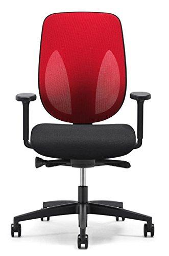 Filet De Dos Chaise Giro Flex 353 Rouge Noir Avec Accoudoirs Cradle