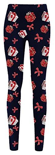 Chocolate Pickle® Nouveau Dames Gingembre Pain Neige homme Noël Arbre Rudolph Visage Jambières36-42 Navy Gift Tie