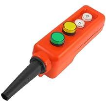 Verde amarillo arriba-abajo lámpara LED polipasto mano manejar interruptor pulsador 12 V