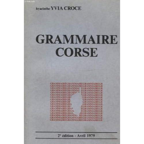 Grammaire corse