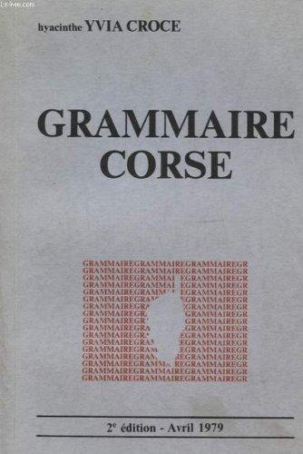 Grammaire corse par h Y Croce