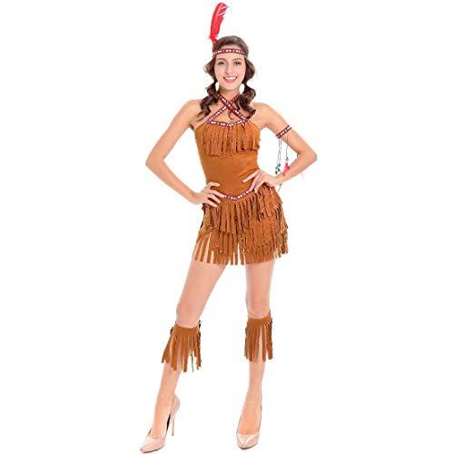 ZSJ~SW Indigene Primitive Female Pirate Hunter Kostüm Spiel Kostüm Halloween Inca (Color : Brown, Size : L) (Halloween Kostüm Hunter)