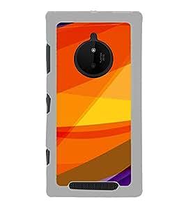 Fiobs Designer Back Case Cover for Nokia Lumia 830 (Orange Yellow Cool Pila Narangi)