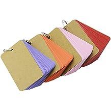Rancco® 200 Carpeta de papel Kraft Easy Flip Tarjeta Flash Tarjetas de estudio / Bloc de notas Scratch Pads / Tarjeta de felicitación / Tarjeta de índice / Tarjeta de índice Tarjeta de archivo / nota (4 juegos, 50 hojas por juego)