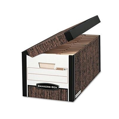 Bankers Box - Fastfold Flip Top File Storage Box Letter/Legal Woodgrain 12/Ctn Product Category: File Folders Portable & Storage Box Files/Record Storage Boxes by Bankers Box
