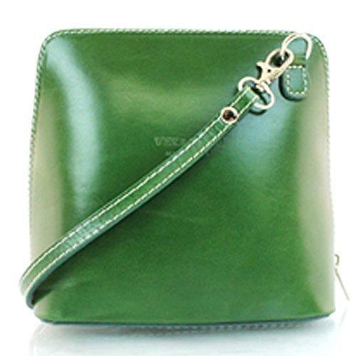 Vera Pelle, Borsa a tracolla donna Green small Green
