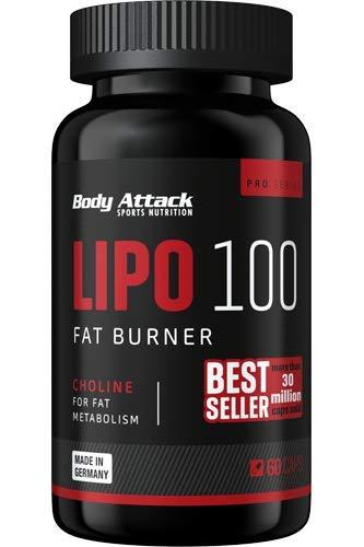Body Attack LIPO 100 Fat Burner, 60 Kapseln, 1er Pack (1 x 51 g) - Top Fat Burner