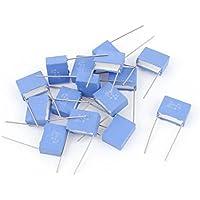 Sourcingmap  - 15pcs por el agujero de polipropileno condensador de película 650v azul 22nf