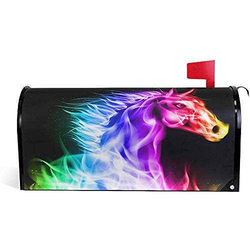 Mailbox Cover Colorful Fire Horse Mailbox Cover Standard Size 21x18 In
