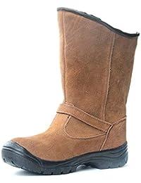 HHXWU Stivali da Uomo Peluche addensati Stivali da Neve Caldi Piercing  Anti-Piercing 6034966f5ef